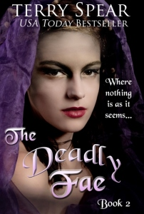 Deadly Fae, 2900 Newsborough font with arch photo effects purple, orange gradient bevel simple sharp outer (430x640)